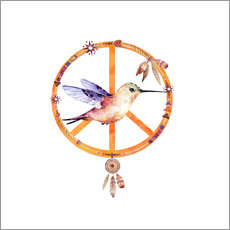 Wall sticker Hummingbird Peace