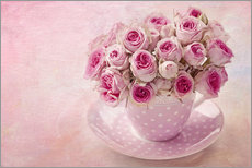 Wall sticker Roses in a cup