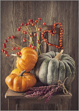 Gallery print  Still life with the pumpkins - Elena Schweitzer