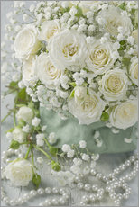 Wall sticker White roses