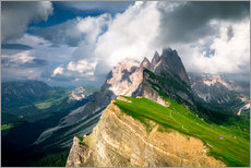 Wall sticker  Seceda - South Tyrol - Mountain panorama - Sebastian Jakob