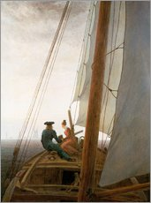 Wall sticker  On the Sailing ship - Caspar David Friedrich
