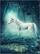 Wall sticker Unicorn in the magic forest