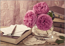 Gallery print  Roses and the books - Elena Schweitzer