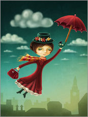 Wall sticker  Mary Poppins - Elena Schweitzer