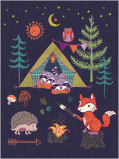 Wall sticker  Camping Friends - Janet Broxon