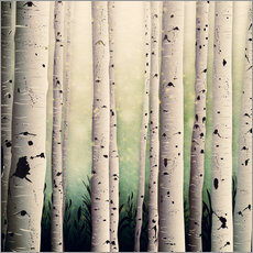 Gallery print  Birch wood - Sybille Sterk