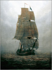 Gallery print  Sailing ship in the fog - Caspar David Friedrich