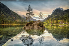 Gallery print  Hintersee at an evening in spring - Sabine Wagner