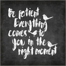 Wall sticker  Be patient Chalkboard - Andrea Haase