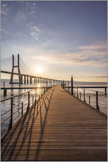 Gallery print  Vasco da Gama Bridge Lisbon - Achim Thomae