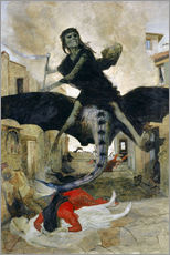 Wall sticker  The Plague - Arnold Böcklin