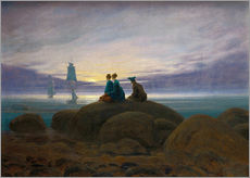Wall sticker  Moonrise by the Sea - Caspar David Friedrich