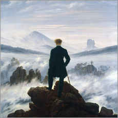 Gallery print  The Wanderer Above the Sea of Fog - Caspar David Friedrich