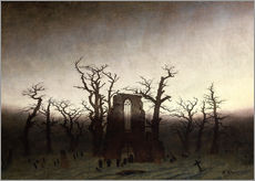 Wall sticker  The Abbey in the Oakwood - Caspar David Friedrich