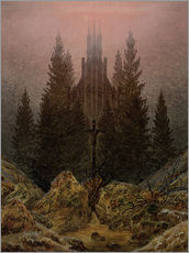 Wall sticker  Crucifix in Forest - Caspar David Friedrich