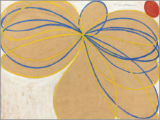 Foam board print  The Seven-Pointed Star, No. 1 - Hilma af Klint