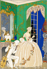 Wall sticker  A woman and musician - Georges Barbier