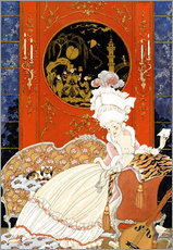 Wall Sticker  A woman reading a letter - Georges Barbier