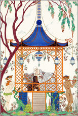 Gallery print  A man and woman in a pavillion - Georges Barbier