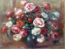 Gallery print  Still life with roses - Pierre-Auguste Renoir