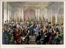 German School - The Proclamation of Wilhelm as Kaiser of the new German Reich