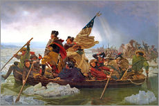 Gallery print  George Washington Crossing the Delaware River, 25th December 1776 - Emanuel Gottlieb Leutze