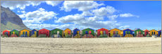 Gallery print  Colorful beach houses in Muizenberg - HADYPHOTO