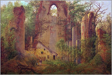 Gallery print  Abbey ruin Eldena - Caspar David Friedrich