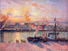 Wall Stickers  Sunset at Rouen - Camille Pissarro