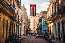 Wall sticker  A Cuban flag with holes - Julian Peters