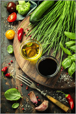 Gallery print  Healthy bio vegetables and spices
