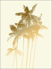 Alex Saberi - Palm trees design poster - tobacco