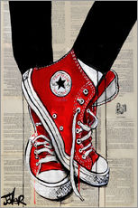 Wall sticker  Red converse - Loui Jover
