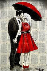 Gallery print  she wore red - Loui Jover