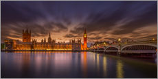 Gallery print  London sunset - Elena Papadopolis