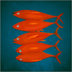 Wall sticker  red fish - Sybille Sterk