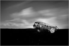 Gallery print  Airplane wreck on Iceland - Muharrem Ünal