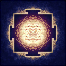 Wall sticker Sri Yantra IX