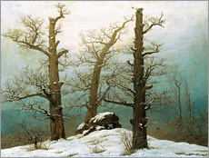 Gallery print  Megalithic grave in the snow - Caspar David Friedrich
