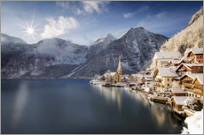 Wall sticker  Hallstatt in Austria, Winter - Dieter Meyrl