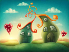Wall sticker Illustration of magic houses