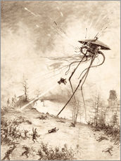 Wall sticker  Martian Fighting Machine Hit by Shell - Henrique Alvim Correa