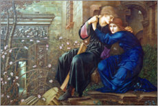 Aluminium print  Love among Ruins - Edward Burne-Jones