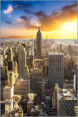 Wall sticker  Sunset over Manhattan, New York City - Jan Christopher Becke