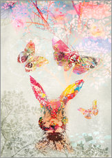 Gallery print  Butterflies and Hare - Ella Tjader