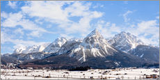 Wall sticker  Sonnenspitze - winter landscape - panorama - Sebastian Jakob