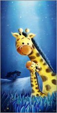 Gallery print  Giraffe mother with child - Stefan Lohr