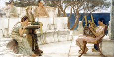 Gallery print  Sappho and Alcaeus - Lawrence Alma-Tadema