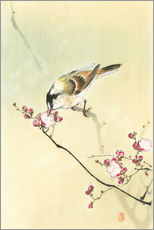 Wall sticker Small Bird and Blossoms